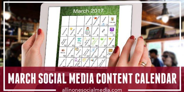 [FREEBIE] March Social Media Content Calendar