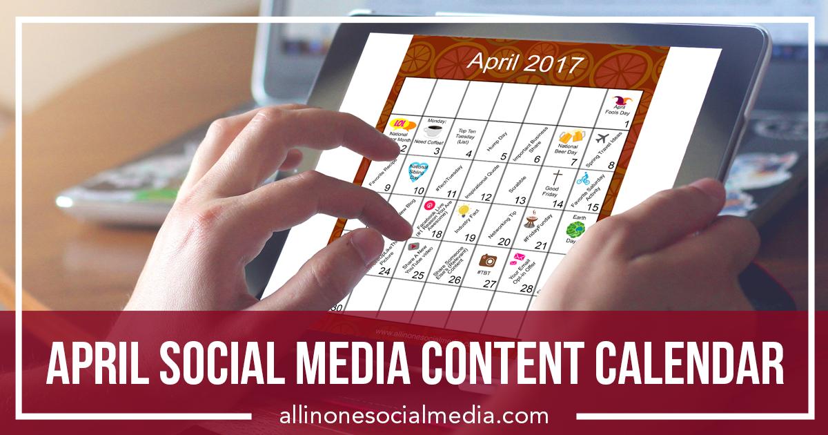 [FREEBIE] April Social Media Content Calendar