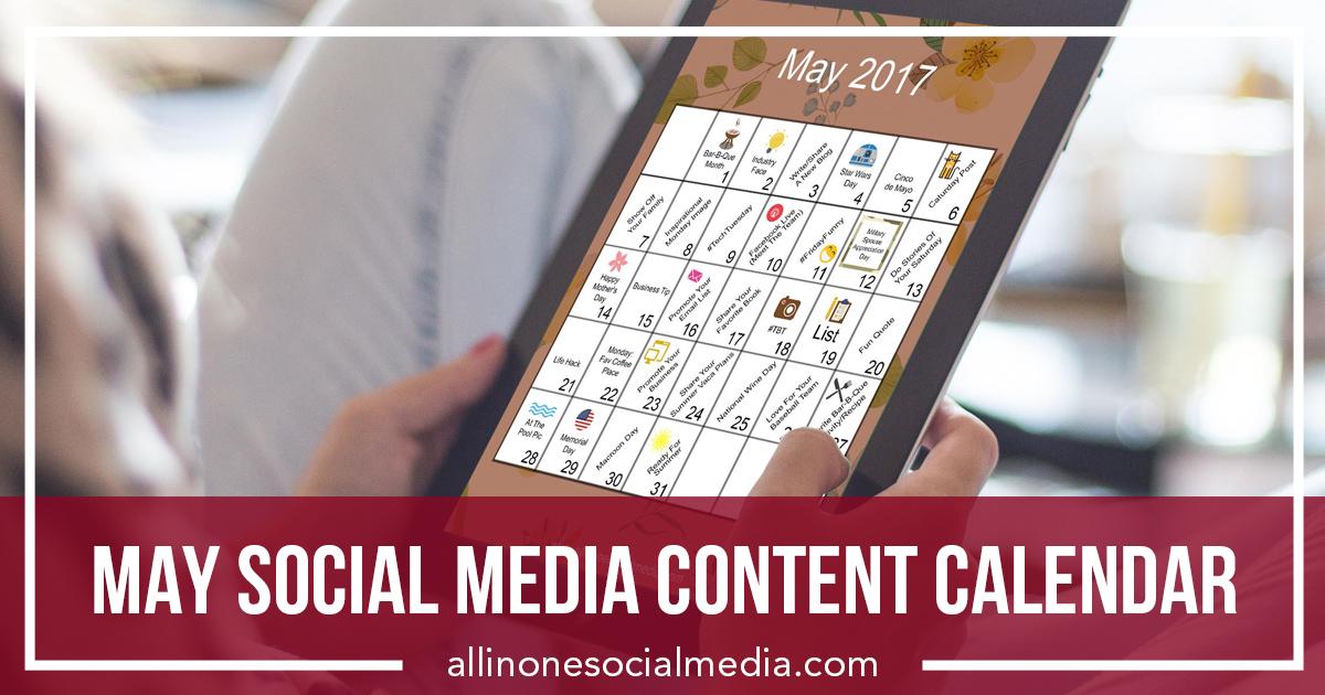 [FREEBIE] May Social Media Content Calendar