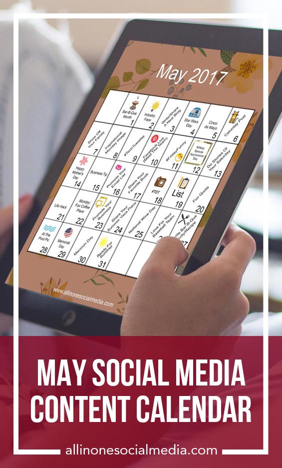May Content Calendar Social Media