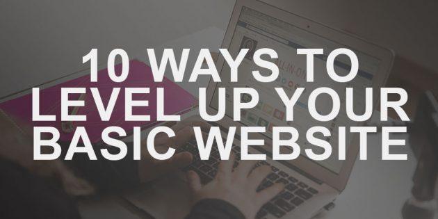 10 Ways to Level Up Your Basic Website Podcast