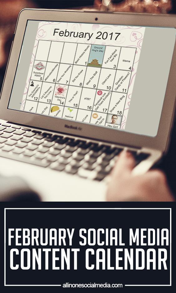 february social media content calendar