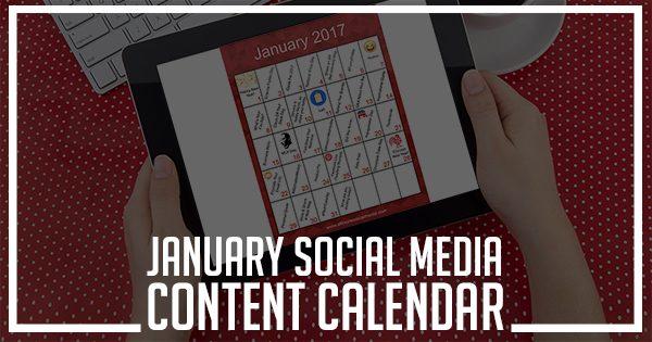 january social media content calendar