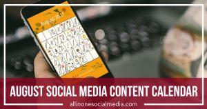 content calendar may