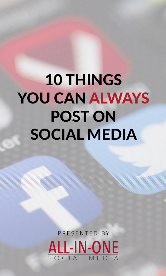 Marketing for your boring business podcast - 10 things you can always post on social media