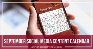 September Social Media Content Calendar
