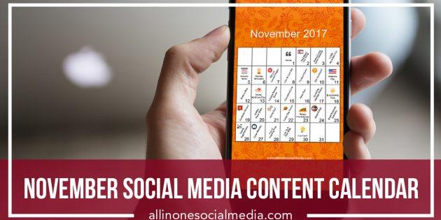 November Social Media Content Calendar [Infographic]