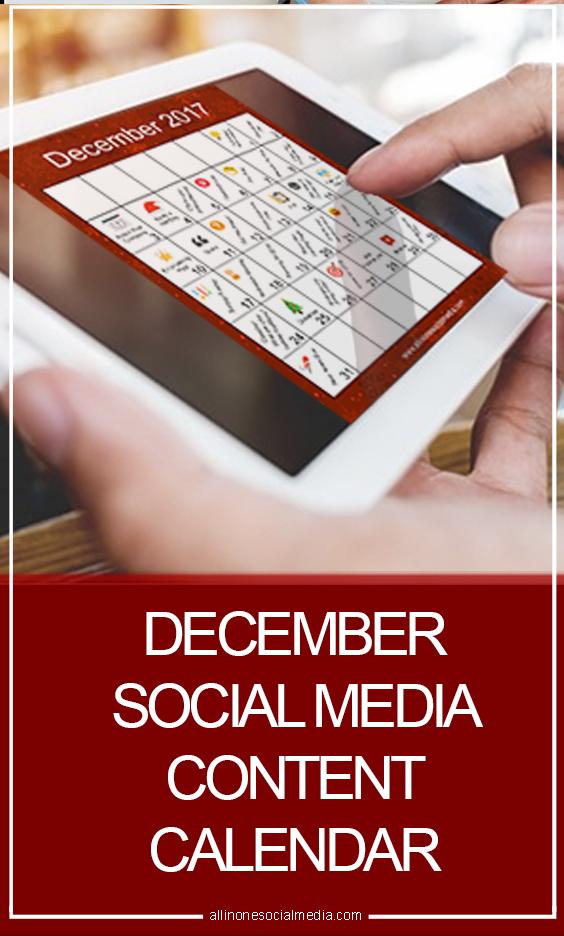 December Social Media Content Calendar [Infographic]