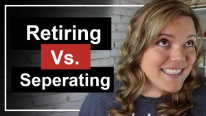 Separating vs Retiring from the Military // There is a range of benefits and differences when retiring from the military or separating from the military.